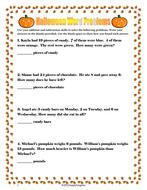 halloween word problems  fun practice by happyedugator  teaching  worksheet