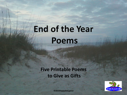 End of the Year Poems PowerPoint