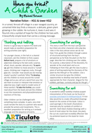 A Child's Garden by Michael Foreman: Creative ideas for literacy and art