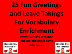 Spanish greetings and leave takings powerpoint 25 fun phrases by spanish greetings and leave takings powerpoint 25 fun phrases m4hsunfo