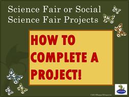 science fair or social science fair project power point by