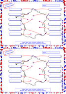 Map Of France Cities And Towns.French French Cities Towns Map Activity 1 By Spellmaster