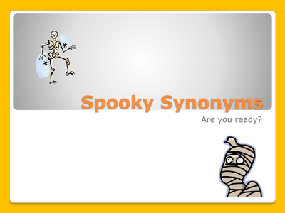 Halloween Resources: Spooky Synonyms