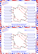 Map Of France Cities And Towns.French French Cities Towns Map Activity 2