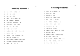 Balancing Equations, Fundamental Chemistry Lesson 3 (AQA 1.1.3) Complete  lesson.
