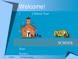 back to school welcome back to school powerpoint template