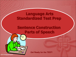 TEST PREP Parts of Speech and Sentence Construction Interactive PowerPoint
