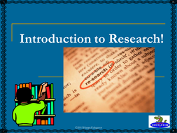 Introduction to Research Power Point