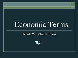 Economic Terms PowerPoint