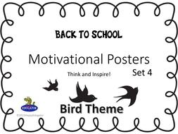 Inspirational Posters - Bird Theme Set 4