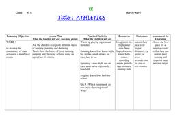 year 6 Athletics block