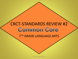 TEST PREP 7th Grade Language Arts Standards Review Interactive PowerPoint