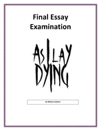 As I Lay Dying Final Test Essay Examination