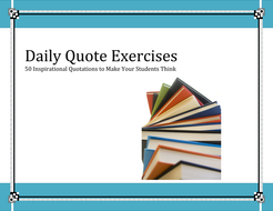 Teaching Literary Devices Daily Quotes Exercises