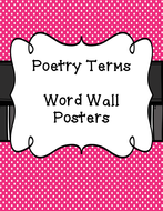 Poetry Literary Terms Word Wall By Christianner Teaching
