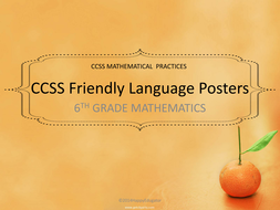 6th, 7th, 8th CCSS Mathematical Practice Standards in Kid Friendly Language