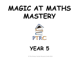 Year 5 Magic at Maths - Mastery Pack