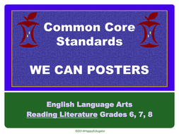 Common Core Standards for Reading Literature PowerPoint Posters