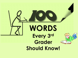 Reading - 100 Words Every Third Grader Should Know