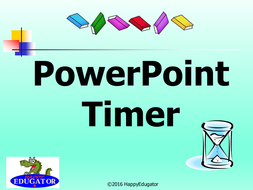 PowerPoint Timer - Time Remaining PowerPoint for Classroom Management