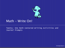 Math Journal Prompts and Writing Activities - Write On!