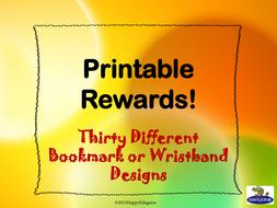Awards - Printable Rewards, Bookmarks, or Wristbands