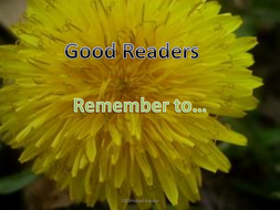Good Readers Remember To...PowerPoint