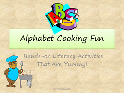Alphabet Cooking Fun Literacy Activities with Yummy Food