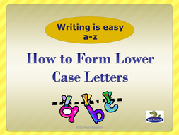 Handwriting - How to Write Lower Case Letters Animated PowerPoint