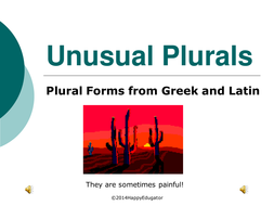 Irregular Plurals - Latin and Greek Plural Forms