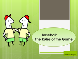 baseball powerpoint the rules of the game by happyedugator