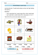ge and dge sounds words free worksheet by krazikas teaching resources. Black Bedroom Furniture Sets. Home Design Ideas