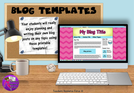 blog template printables for any subject by teachersresourceforce