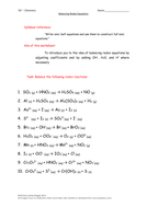 'AS' - Chemistry: Balancing Redox Equations Worksheet (With Answers)