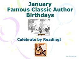 January Famous Author Birthdays PowerPoint