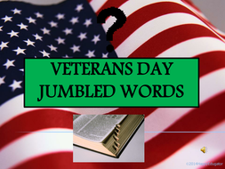 Veterans Day Jumbled Words PowerPoint Game