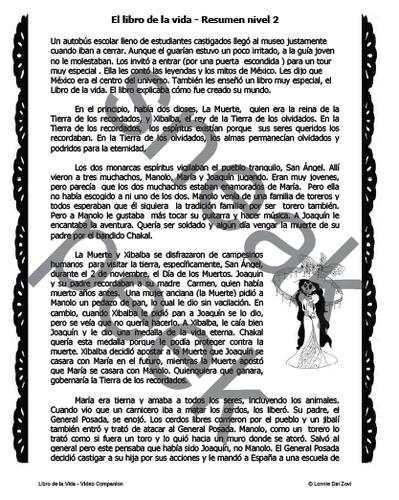 El libro de la vida Video Companion Worksheets and Activities Packet by lonniedaizovi