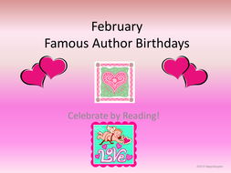 February Famous Author Birthdays PowerPoint