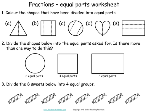 KS1 Number - Fractions Teaching Pack - 5 PowerPoint presentations ...