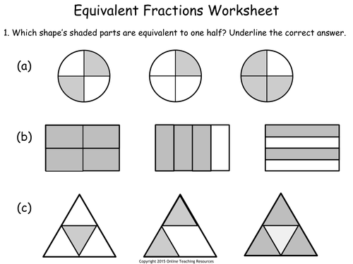 KS1 - Fractions Teaching Pack - 5 PowerPoint presentations and worksheets