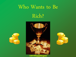 Who Wants to be Rich PowerPoint Game Template