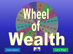 Wheel of Wealth PowerPoint Game Template
