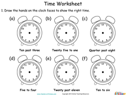 Time - Year 2 (PowerPoint and worksheets)