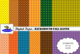 Digital Paper - Fall Leaves