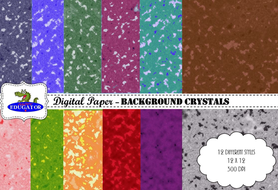 Digital Paper - Background Crystals