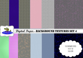 Digital Paper - Background Textures 4