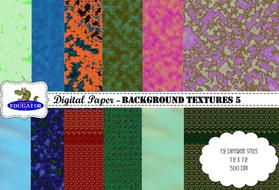 Digital Paper - Background Textures 5