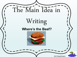 Main Idea in Writing PowerPoint