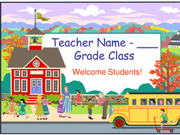 Welcome Back to School PowerPoint Template