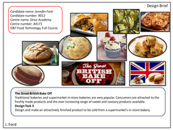 AQA Food Technology A* Grade Coursework Example